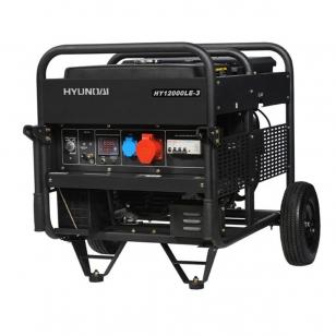 Бензиновый генератор HYUNDAI HY 12000LE-3 трехфазный с электростартом + колеса