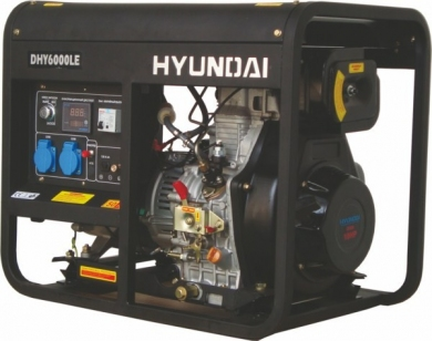 Генератор дизельный HYUNDAI DHY 8000LE-3 + колеса