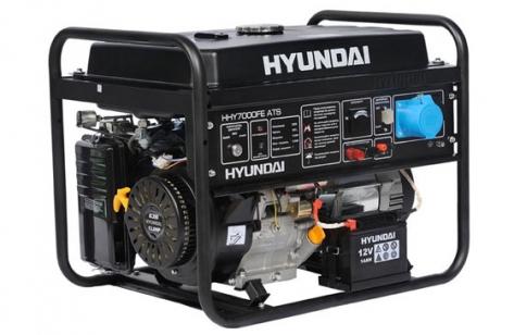 Бензиновый генератор HYUNDAI HHY 5000FE с электростартом + счетчик моточасов