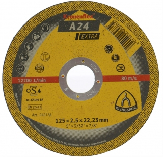 Отрезной круг (125х2,5х22,23) Klingspor A 24 Extra (242138)