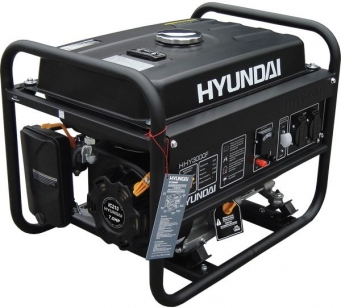 Бензиновый генератор HYUNDAI HHY 3000FE с электростартом + счетчик мoтoчасoв