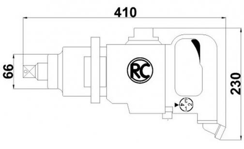 Гайковерт пневматический ударный RODCRAFT 2485
