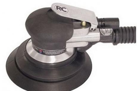 Шлифовальная машина пневматическая (шлифмашина) RODCRAFT 7668 орбитальная, 150 мм, ход 5 мм, 10000 об/мин, 350 л/мин