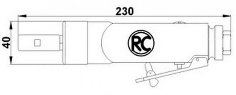 Бормашина пневматическая (шлифмашина) RODCRAFT 7035 для удаления наклеек с автомобиля