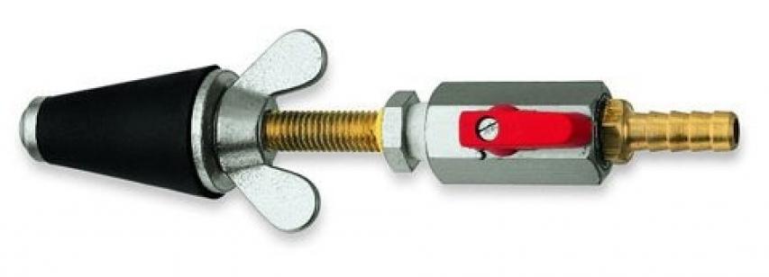 Коническая газоконтрольная пробка ROTHENBERGER 3/4-1.1/4 с запорн.клапаном и насадкой для шланга