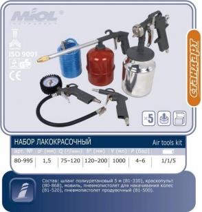 Набор пневмоинструмента лакокрасочный MIOL 80-995