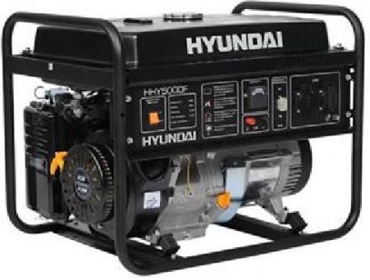 Бензиновый генератор HYUNDAI HHY 5000F + электронный счетчик моточасов